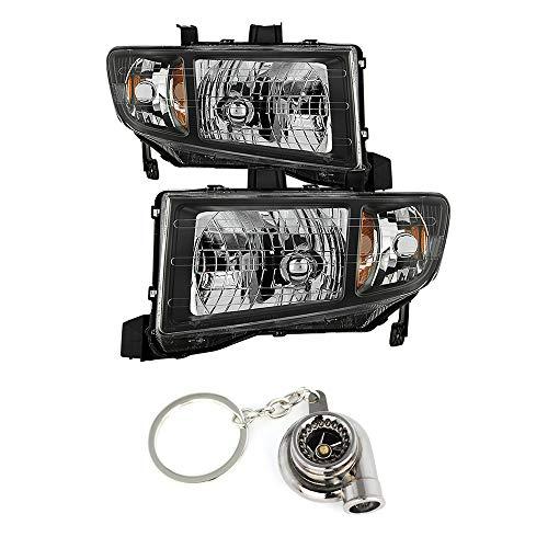 Honda Ridgeline Black Crystal Headlights+ Free Gift Key Chain Spinning Turbo Bearing