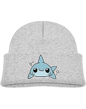 Kids Fashion Cartoon Kawaii Shark Drawing Casual Flexible Winter Knit Hats/Ski Cap/Beanie/Skully Hat Cap