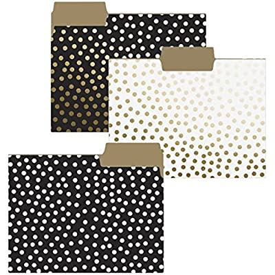 graphique-gold-dots-file-folder-set