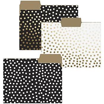 Decorative file folders black and white dresses