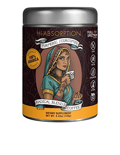 Turmeric Curcumin Supplement with Nrf2 Activator Support - 100% Arabica Soluble and Microground Coffee, Full Spectrum, Non-GMO, GMP Certified - 185x Better Absorption (120 g)