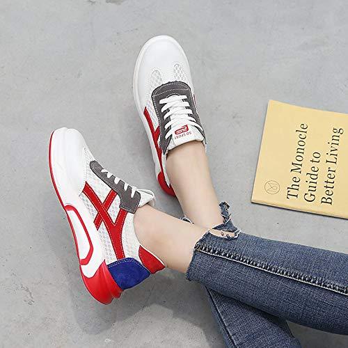 da poliuretano Comfort PU Verde Rosso piatto donna Green Scarpe Summer tonda Sneakers Tacco ZHZNVX Punta IwHqB5YAcO