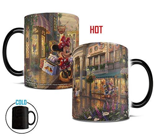 Morphing Mugs Thomas Kinkade Minnie Rocks the Dots on Rodeo Drive Heat Reveal Ceramic Coffee Mug - 11 Ounces