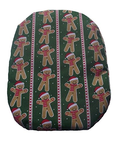 Gingerbread Stripes - Simple Stoma Cover Ostomy Bag Cover Christmas Gingerbread Stripe Green