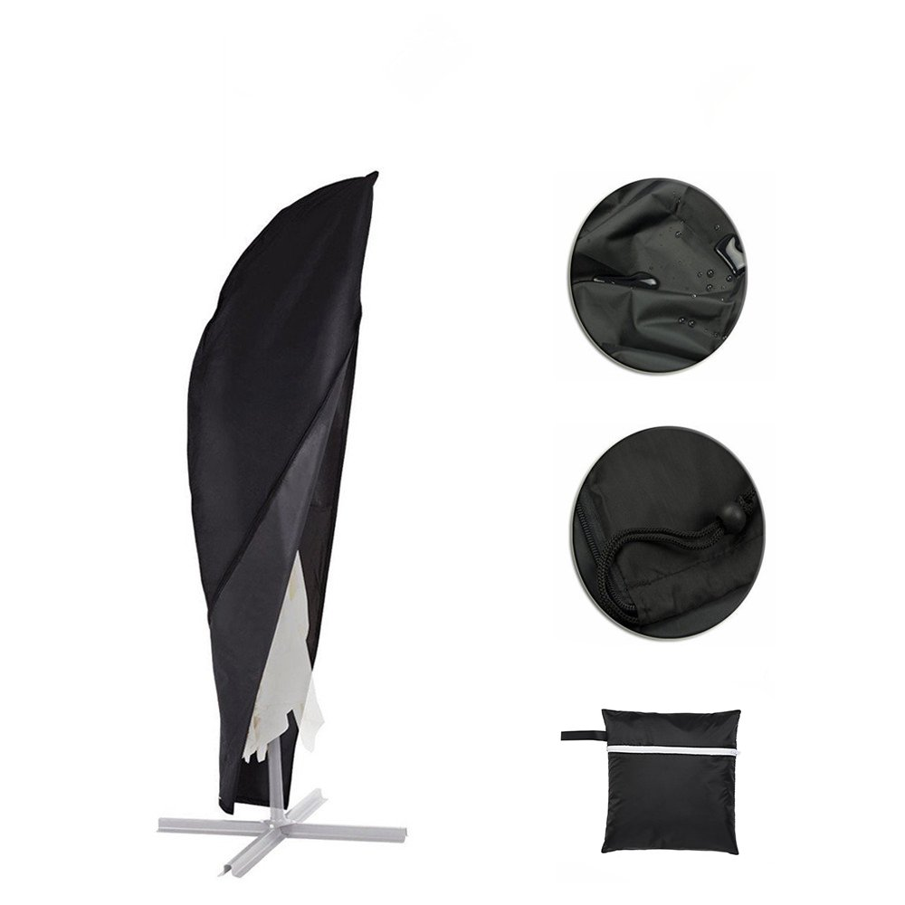 Parasol Cover, Patio Offset Umbrella Cover with Zipper Waterproof Fits 9ft to 13ft Banana Cantilever Parasol Umbrellas by Petask