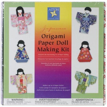 Japanese Origami Paper Doll Making (Origami Kimono Dolls)