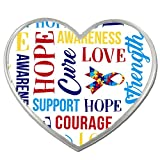PinMart's Autism Awareness Heart w/ Words and Ribbon Enamel Lapel Pin