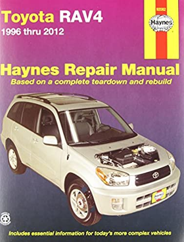 toyota rav4 1996 thru 2012 haynes repair manual editors of haynes rh amazon com 2007 toyota rav4 repair manual 2007 rav4 repair manual pdf
