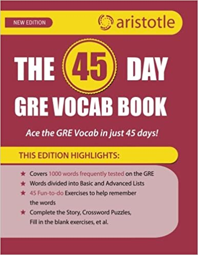 Amazon com: The 45-Day GRE Vocab Book: Ace the GRE vocab in