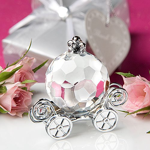 Choice Crystal Collection pumpkin coach wedding favors, 1 Castle Centerpiece
