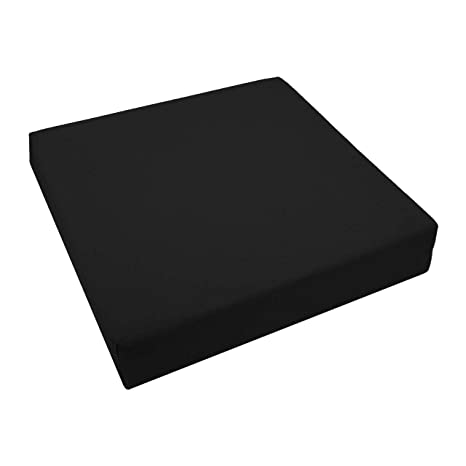 Lekoni - Cojín de Microfibra (35 x 35 cm, 2 cm), Color Negro ...