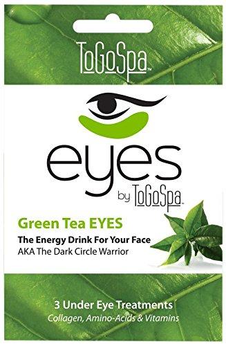 To Go Spa Green Tea Eyes, Pair of 3 (Green Tea Spa)