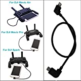 Mavic Pro Mavic Air Spark Cable Threeking DJI Mavic pro / Mavic pro Platinum / Mavic Air / Spark Data Cable Remote Control Date Cable OTG Cable Micro USB to IOS 11.8 inch(30 cm)