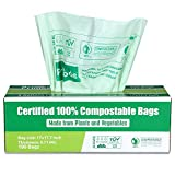 Primode 100% Compostable Trash Bags, 3 Gallon