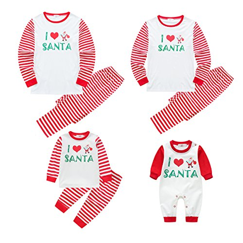Baywell I Love Santa, Christmas Family Matching Pajamas Set For Dad Mom Kid by Baywell (Image #1)