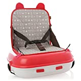 Lil' Jumbl Travel Booster Seat - On-the-Go Carry Pack Storage (Red)
