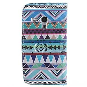 Barclay Domett Samsung Galaxy S3 mini i8190 Funda Carcasa Case Funda De Cuero Con Funcion Atril, Funda Billetera Con Tapa Para Tarjetas ,Flip Piel Carcasa Para Samsung Galaxy S3 mini i8190(Azul-Verde Color)