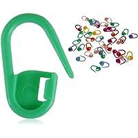 PRENKIN 20 PCs de Crochet de Bloqueo de la Puntada de la Aguja marcadores de Clip Holder