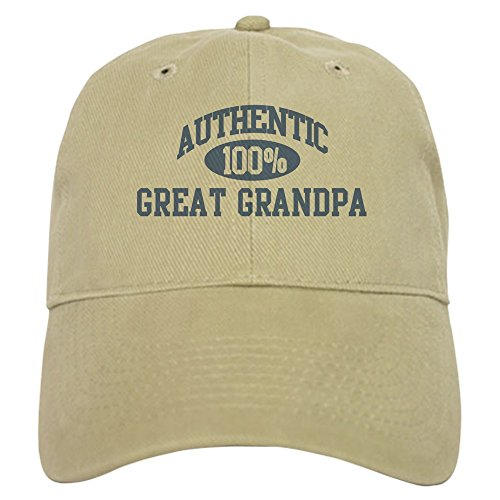 CafePress Authentic Great Grandpa Cap Baseball Cap with Adjustable Closure, Unique Printed Baseball Hat Khaki (Great For Gifts Grandfathers)