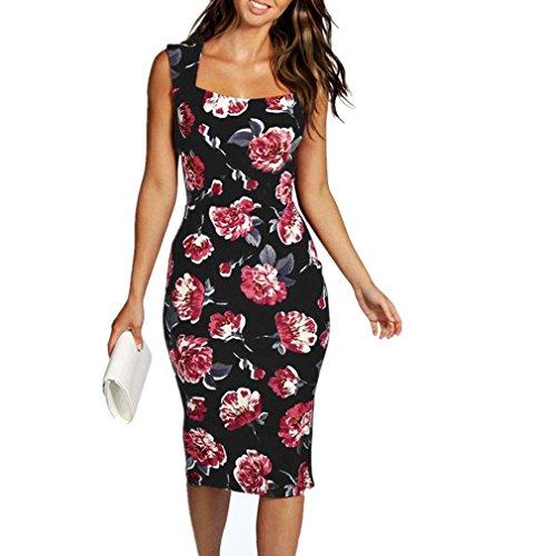 Line Art Floral Dress - 6