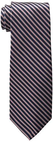 Tommy Hilfiger Men's Double Thin Stripe Tie, Navy, One Size