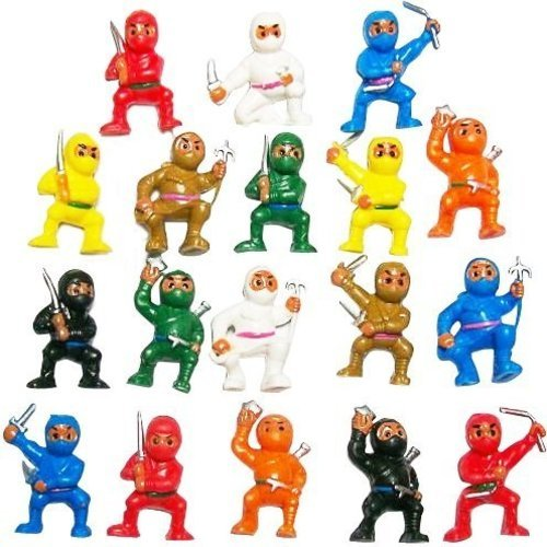 50 Mini Karate Ninjas Warriors Fighters Figures Cupcake Cake Toppers Ninja Kung Fu Guys Martial Arts Men Lot Party Favors
