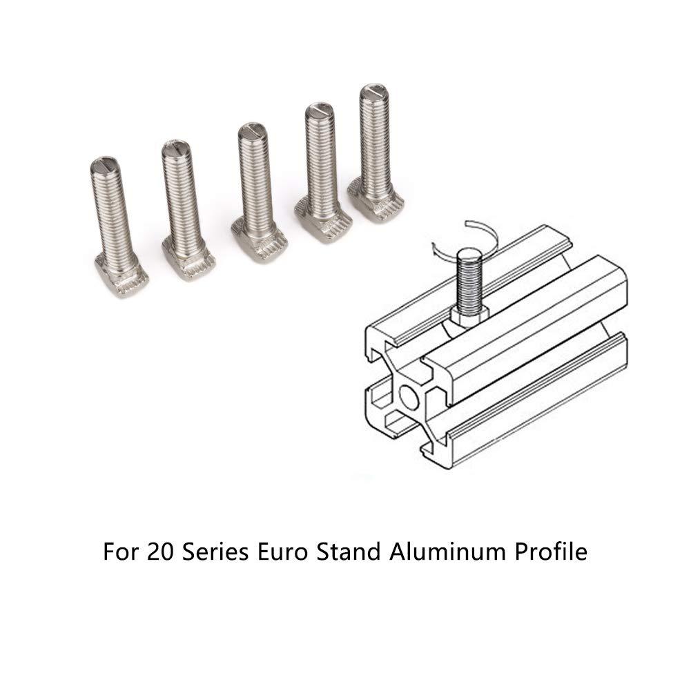 M5*25 Acero al Carbono Tornillo tipo T para Perfil de Aluminio con Ranura en T Est/ándar Europea de la Serie 20 INCREWAY 30 Piezas M5 T Tornillos