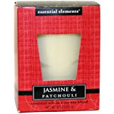 Candle-lite Essential Elements 9-Ounce Boxed Jar Candle with Soy Wax, Jasmine and Patchouli