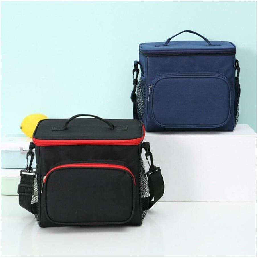 HDS 25.5x22.5x18 CM Portatile Termica Pranzo al Sacco Isolato Viaggi Picnic Borse Lunch Box Tote for Le Donne Gli Uomini (Color : Black) Blue Green
