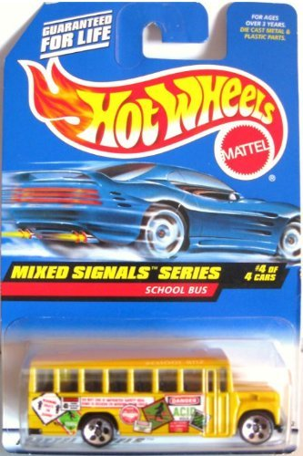 SCHOOL BUS Hot Wheels 1998 Mixed Signals Series School Bus 4/4 1:64 Scale Collectible Die Cast Car #736