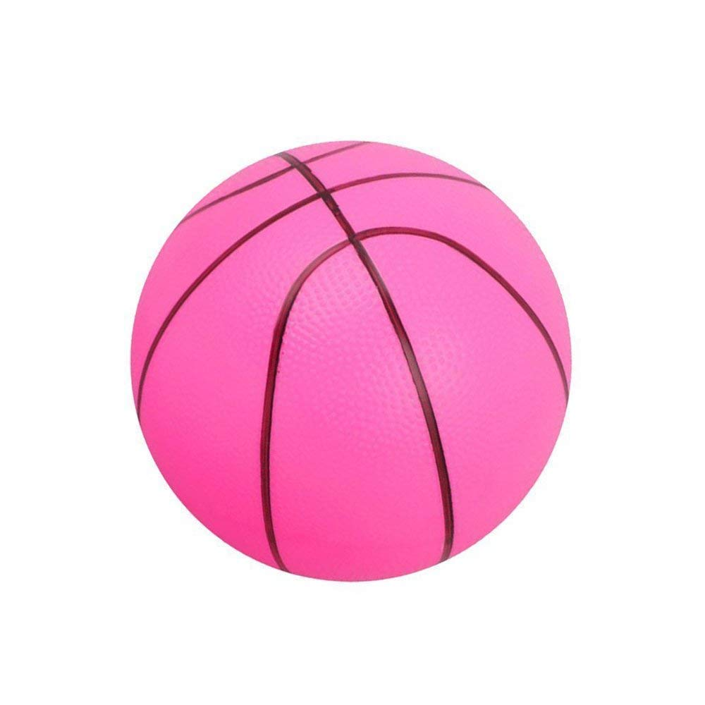 Xeminor Soft Foam Ball Mini Basketball Kid Early Education Ball Round PVC Toy for Kids Or Beginner Play Pink