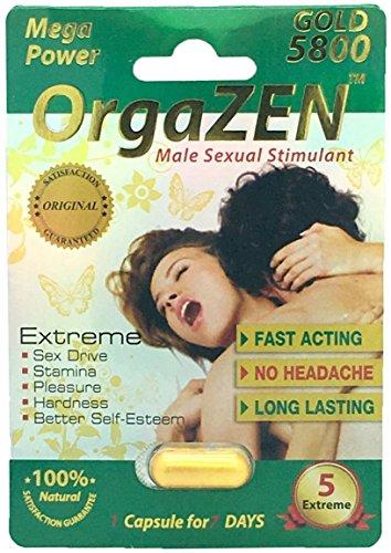 OrgaZEN Gold 5800 - 20 Pills Male Enhancement Pill - Fast US Shipping