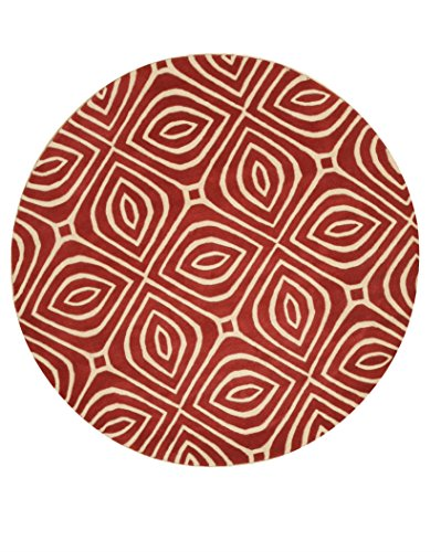 Eorc Wool (EORC ME103RD6X6R Hand Tufted Wool Marla Rug, 6' Round,)