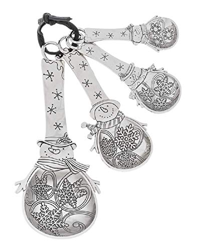 Ganz Measuring Spoons with Out Color Snowman Set of 4 (Snowmen Measuring Spoons)
