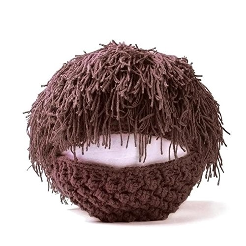 Malloom Beard Wig Hats Handmade Knit Warm Winter Caps Men Women Kid