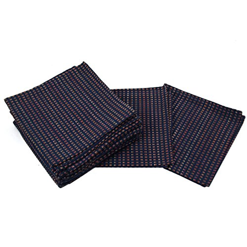 Park B Smith Cortina Navy Blue 100% Cotton Cloth Dinner Napk