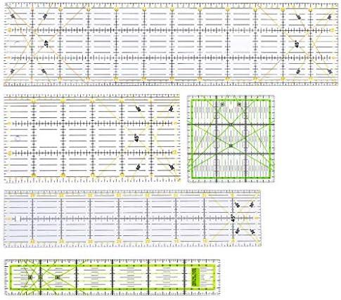 Dabixx Sewing Rulers Set, 5 Piezas/Juego Rectángulo Patchwork ...