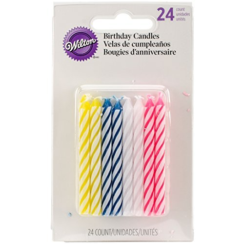 Wilton Celebration Candles, Assorted, 24 Ct (Pack of 6)