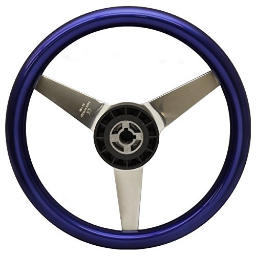 Uflex Boat Steering Wheel PONZA-PL/P | 13 1/8 Inch Metallic Purple by Uflex (USA / Ultraflex) (Image #1)