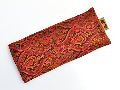 Barefoot Yoga Silk Eye Pillows Indian Sari Designs with Flax Seed & Lavender