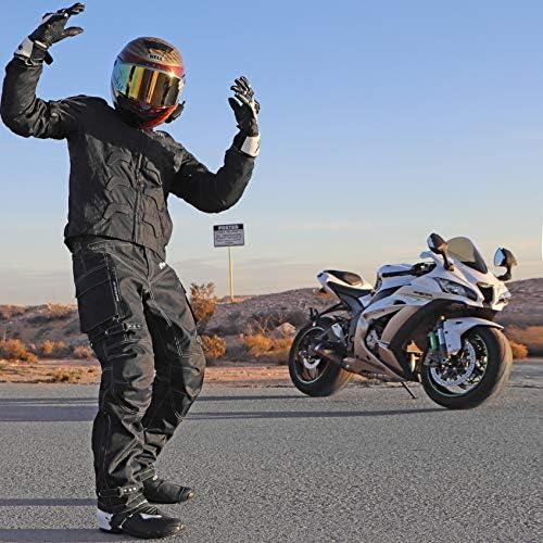 MOTORCYCLE JACKET FOR MEN MOTORBIKE RACING JACKET BREATHABLE CE ARMORED WATERPRO