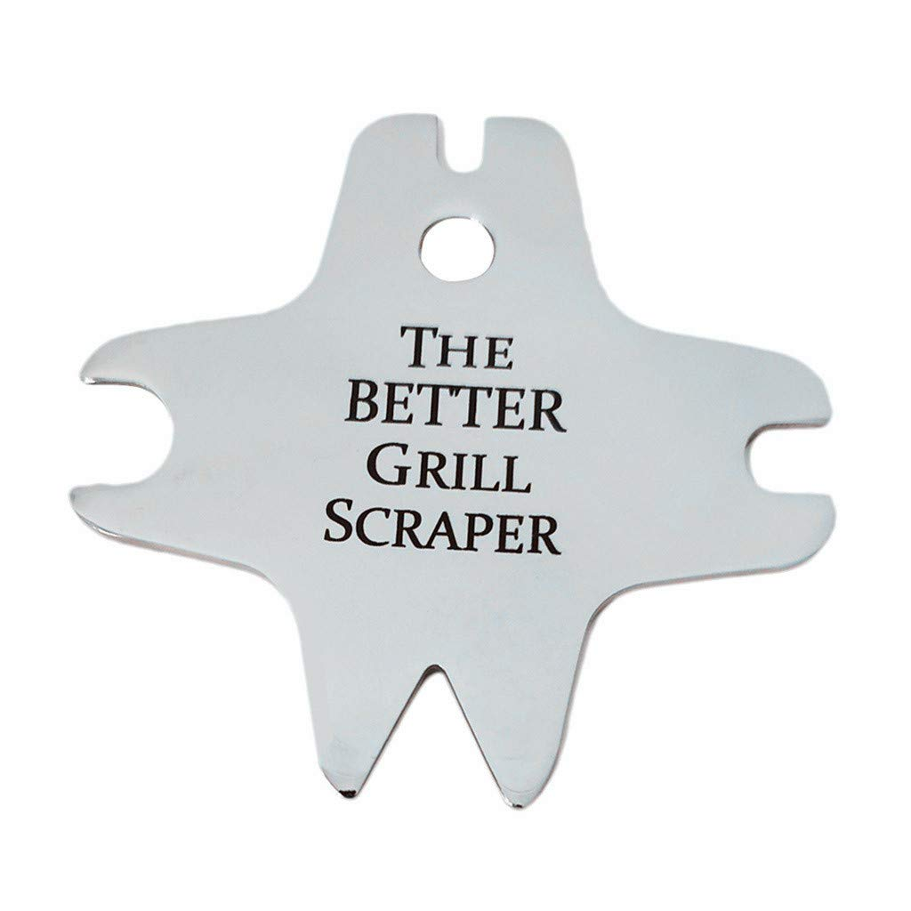 callm The Better Grill Scraper Barbecue Cleaning Tool Stainless Steel Cleaning Blade (Silver)