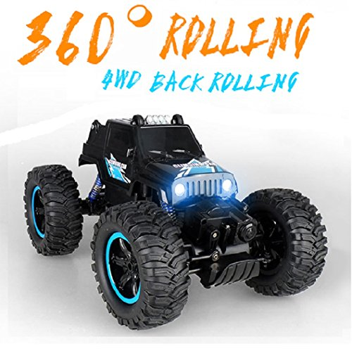 Remote Control Car, Terrain RC Cars, Electric Remote Control Off Road Monster Truck, 20+MPH,4WD Back Rolling Radio Control Car for kids/Adult