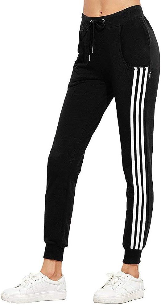 Pantalon Deporte Mujer Simple Entrenamiento Fitness Pantalones Deporte Deportiva Estilo Fashion Elegantes Slim Fit Elastische Taille con Cordón Flecos Pantalones De Tiempo Libre Pantalones De Sudor: Amazon.es: Ropa y accesorios