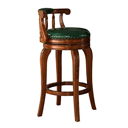 Pleasing Amazon Com Counter Stools Bar Chair Leather Red Oak Retro Squirreltailoven Fun Painted Chair Ideas Images Squirreltailovenorg