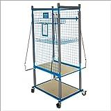 SOLARY PS312 Parts Cart Heavy Duty Mobile Storage Rack Shelf Garage Storage Shelves with 4 Wheels, 4 pcs of elastic ropes
