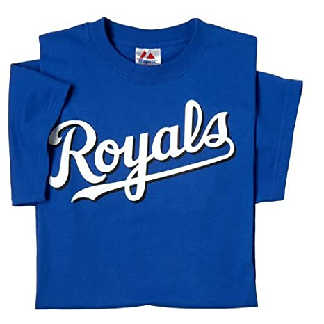 release date: aad1f 3a21f Kansas City Royals (ADULT LARGE) 100% Cotton Crewneck MLB Officially  Licensed Majestic Major League Baseball Replica T-Shirt Jersey