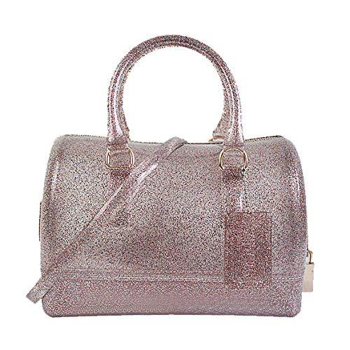 Bag Multicolor Donna Borsa Semi Candy PVC Spalla Boston GODW coloured Handbag Fashion A Jelly Tracolla clear A adPPxwTzq