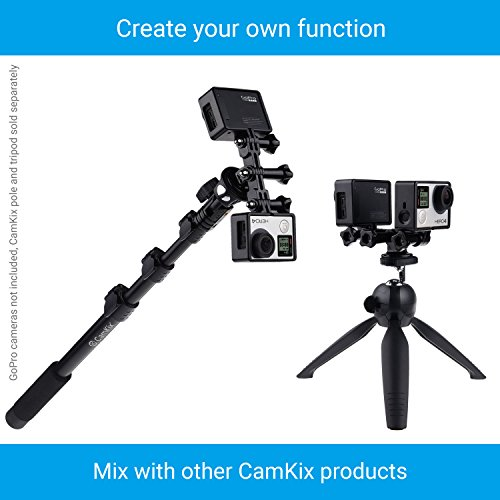 CamKix Replacement Stabilizing Hand Grip Compatible with GoPro Hero with Dual Mount, Tripod Adapter and Universal Phone Holder - Record Videos with 2 Different Camera Angles Simultaneously by CamKix (Image #7)