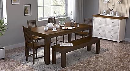 Urban Ladder Nashville XL Six Seater Dining Table Set With Bench - Nashville dining table